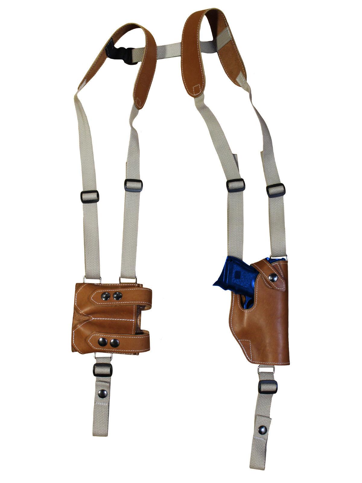 Nueva Funda de Cuero Tostado verdeical de Hombro con DBL Mag Pouch Colt Kimber Compacto
