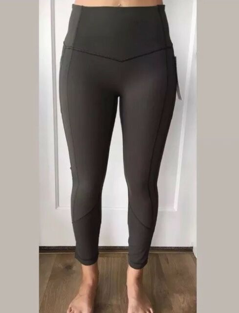 """dd14fc15f0 Lululemon Size 8 All the Right Places Crop II Green DKOV Pant Luxtreme Run  23"""""""