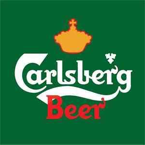Carlsberg Beer Logo Sticker Car Bumper Decal 9/'/' 12/'/' or 14/'/'