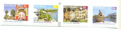 Australia-tourist Precincts-self-adhesive Strip Mnh Perf11-architecture Australia