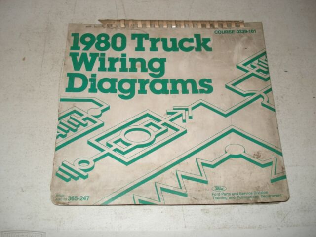 1980 Ford Truck Wiring Diagrams Service Manual F Series Electrical Shop Repair