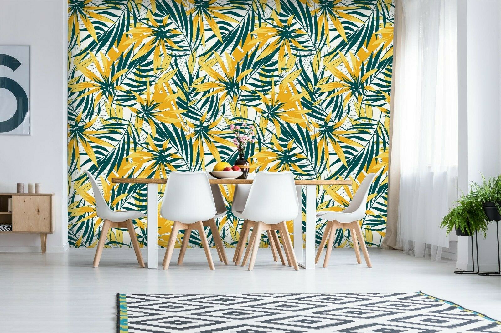 3D Restaurant Gelb Leaves R246 Wallpaper Wall Mural Self-adhesive Commerce Amy