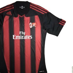 new product a5f33 8c216 Details about AC Milan Adidas Rare Youth Team Shirt Size Small Intesa  Sanpaolo