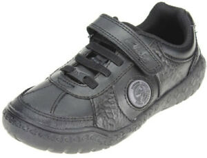 1b4db2eae229 Clarks STOMP REX boys black leather school shoes 10 - 2.5 EFGH Fit ...