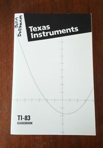 Texas-Instruments-TI-83-Graphing-Calculator-Owner-Instruction-Manual-Only