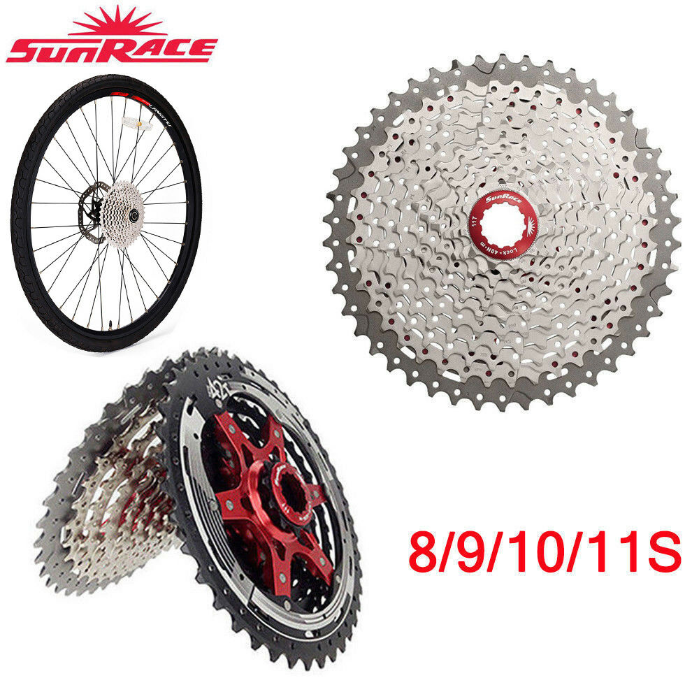 SunRace MTB Road Bike Cassette 8 9 10 11Speed  Bicycle Freewheel fit Shimano SRAM  best quality