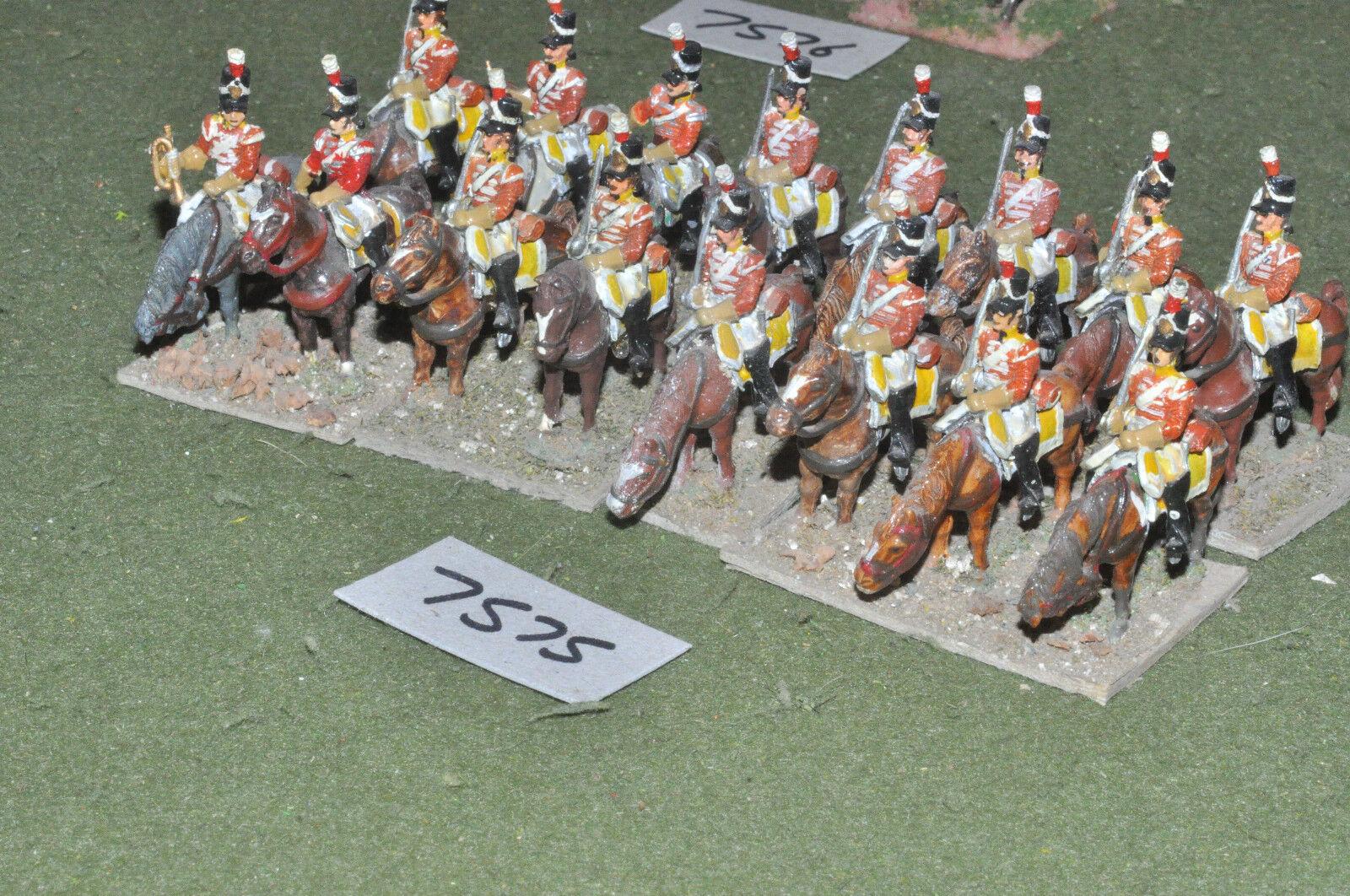 25mm napoleónicas británico Dragones 16 de caballería Pintado Metal-CAV (7575)