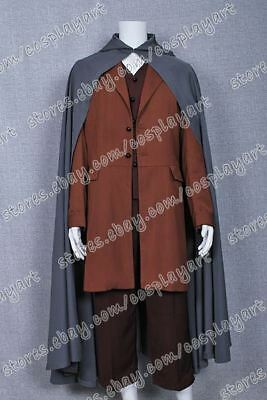 The Lord of the Rings Cosplay Frodo Baggins Costume Cape Coat High Quality New