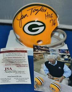 w// COA Jim Taylor signed HOF mini helmet