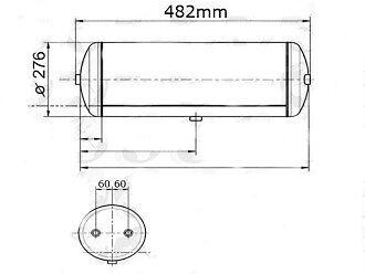 20392306 Volvo FH12 FH13 FH16 Air Brake Tank 25 Litre