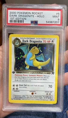 Dark Dragonite Holo 1st Edition Team Rocket Mint 9 PSA Pokemon #5