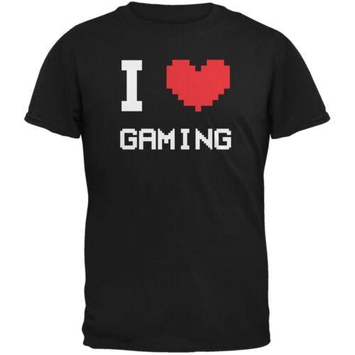 I Heart Gaming 8 Bit Black Adult T-Shirt