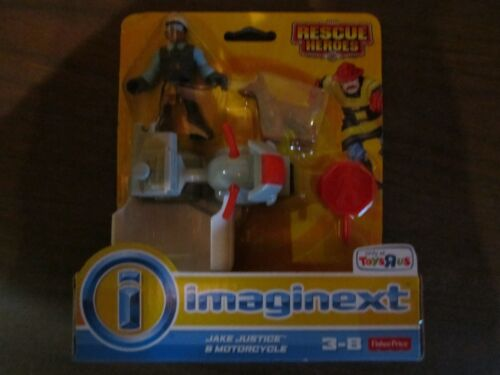 Fisher Price Imaginext New Jake Justice Rescue Heroes City Police motorcycle dog