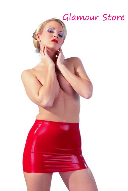 selezione migliore ceb22 ef563 Dettagli su Sexy Mini Gonna Aderente Rossa Latex Lattice Lucida taglie S,  M, L, XL XXL GLAM!