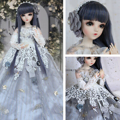 BJD Doll 1//3 Ball Jointed Girl Dolls Free Face Wig Clothes Makeup Toy FULL SET