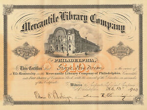 Mercantile-Library-Company-of-Philadelphia-gt-1903-Pennsylvania-stock-certificate
