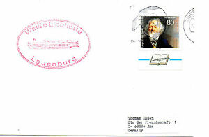 Volontaire Allemand Navire à Passagers Mme Lauenburg Un Navires Cached Plain Carte