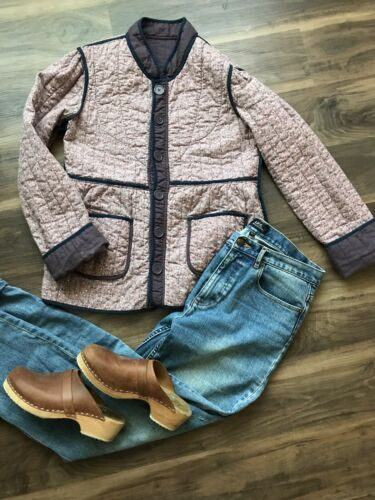 Quilted Jacket 70' Vintage Bohemian Style Size M D