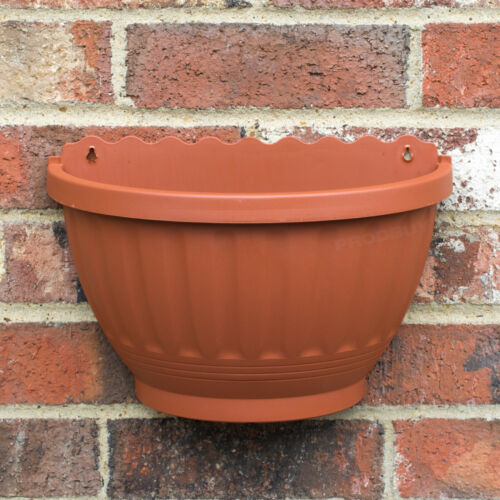 Wall Etruscan Terrocotta Plastic Garden Baskets Flower Planter Plant Pot Hanging