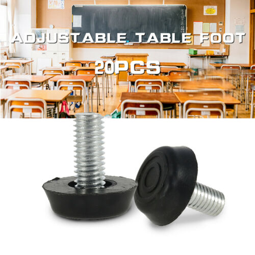 20pcs M8x20MM Adjustable Leveling Feet Furniture Table Cabinet Leg Screws 24mm