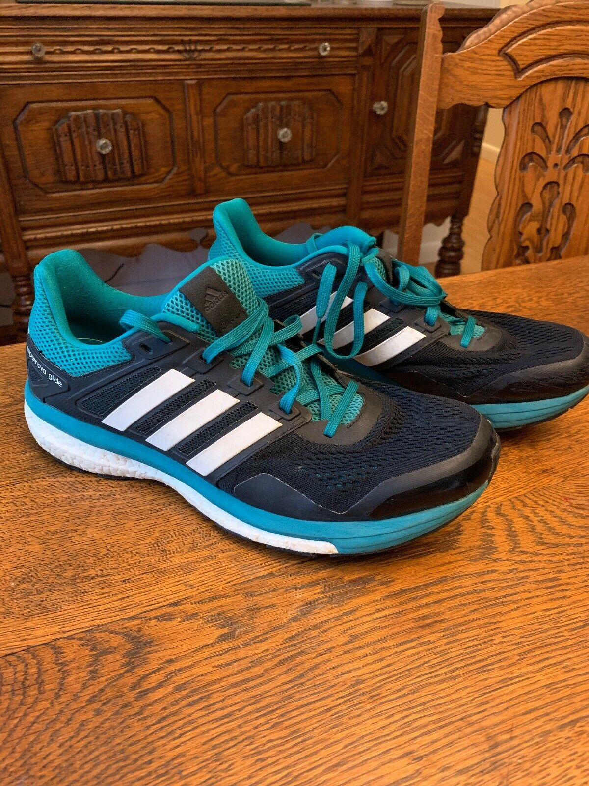 exclusive deals quality design lower price with Adidas Supernova Glide Boost 8 Sz 11.5 M (D) Men's Running Shoes Green And  Black