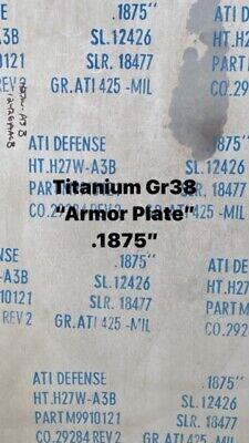 """TITANIUM PLATE ATI 425 Gr 38  .187/"""" X 12/"""" X 12/"""""""