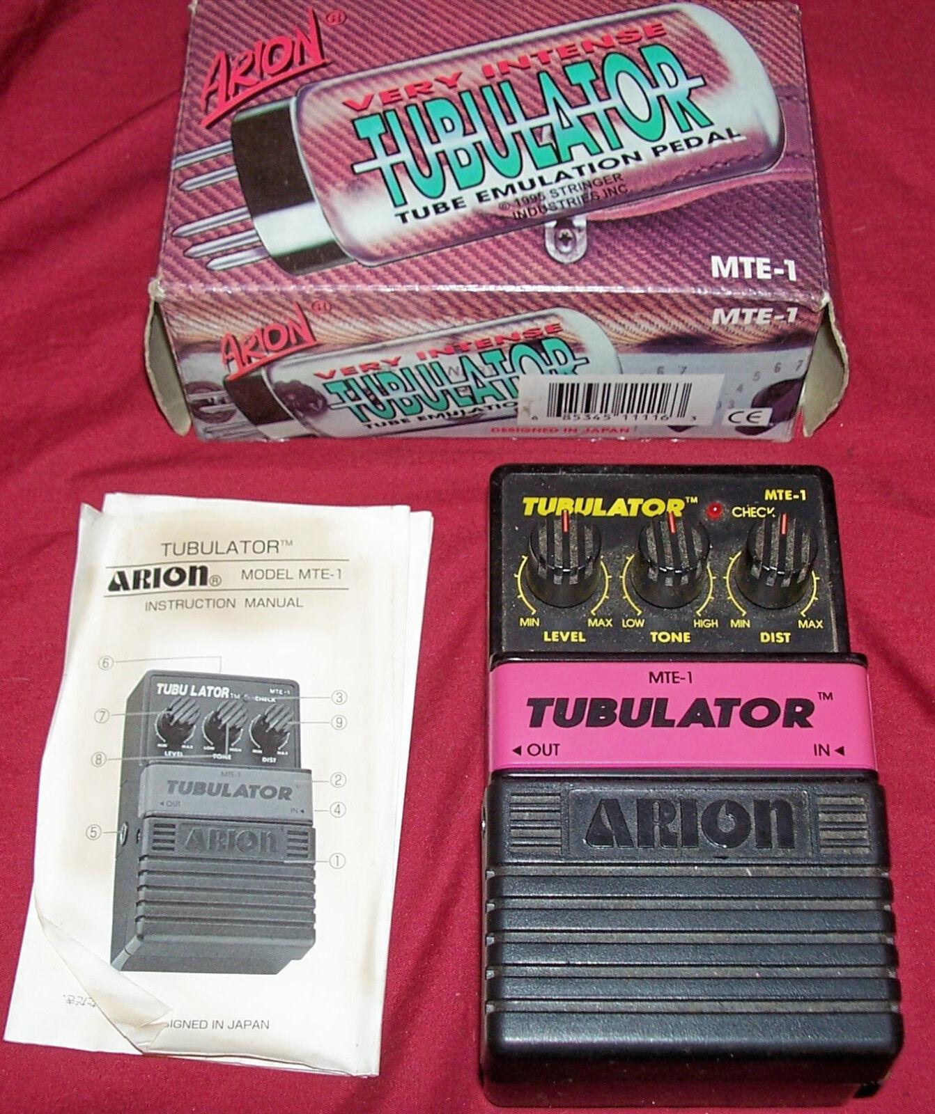 Alte Effekte Pedal Arion Tubulator Tube Emulation MTE-1 Electric Guitar Vintage