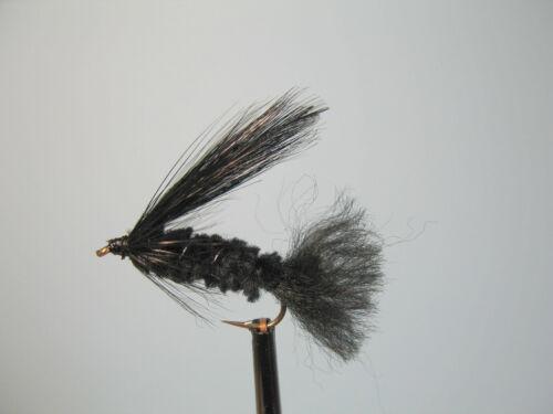 3 x toutes noir mini leurre #10 courte tige truite mouches ML75