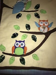 Baby-3D-Blanket-With-Owls-And-Leaves-32x42-I-Love-My-Grandma
