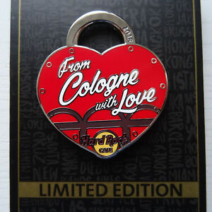 Pin Anstecknadel Hard Rock Cafe Cologne Köln Valentinstag Love