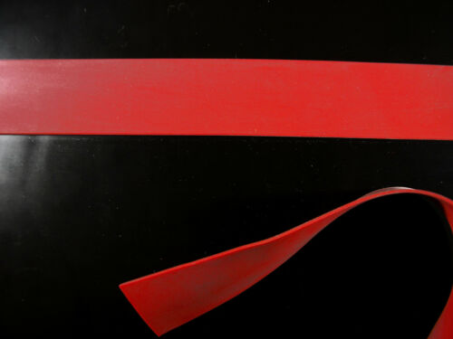 Red Latex Rubber Trim Strips 0.50mm 20mm x 200cm