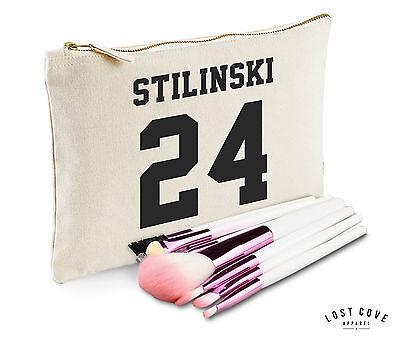 Stilinski 24 Kosmetiktasche Hülle Reißverschluss Make-up Kupplung Leinen Fangirl