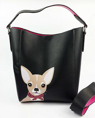 Chihuahua PU Leather and Suede Sports Bag