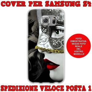 CUSTODIA-COVER-MORBIDA-SILICONE-PER-SAMSUNG-GALAXY-S4-I9500-DONNA-MASCHERA