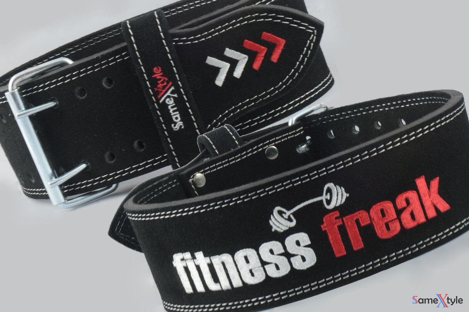 SameXtyle Fitness Freak Weightlifting corpocostruzione Gym energialift Leather Belt 4