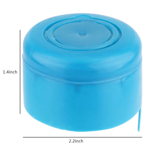 5Pc Blue Reusable Water Bottle Cap Lid Replacement for 55mm 3-5 Gallon Water Jug