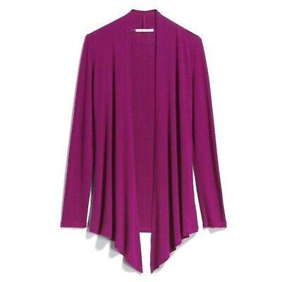 New STITCH FIX XS Cardigan Mix 41Hawthorn Pruple Abrianna Open Front Long Knit | eBay