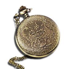 Vintage Antique Pocket Watch With 31chain In Antique Bronze Gold