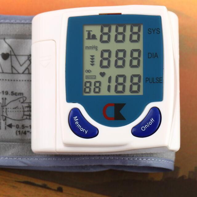 Digital LCD Wrist Cuff Arm Blood Pressure Monitor Heart Beat Meter Machine 2U