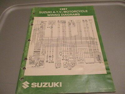 Suzuki OEM 1997 ATV Motorcycle Wiring Diagrams Manual ...