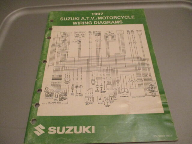 Suzuki Oem 1997 Atv Motorcycle Wiring Diagrams Manual