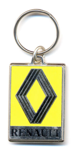 Maße Emblem 31x47mm Renault Schlüsselanhänger emailliert altes Logo