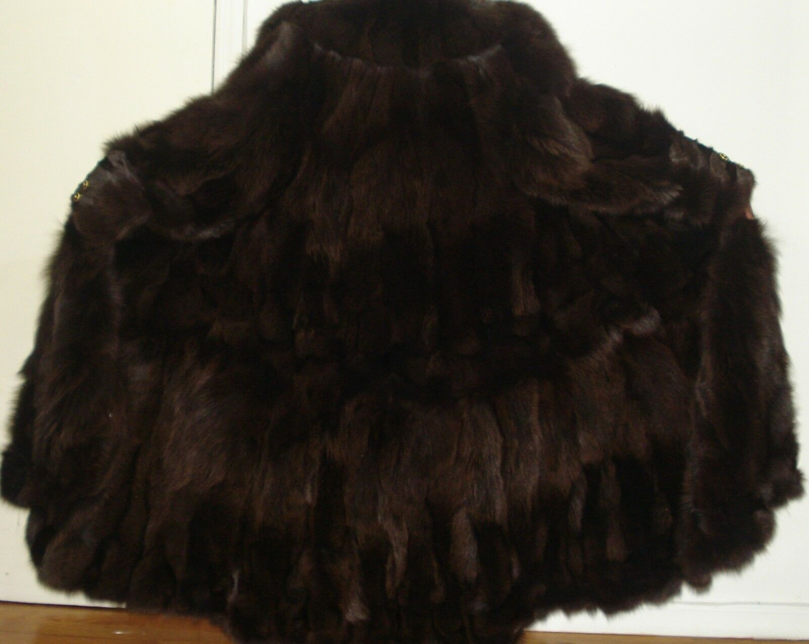 NEW 50  Long Brown Fox 105  Swing Fur Coat Size 14-16 Free Shipping