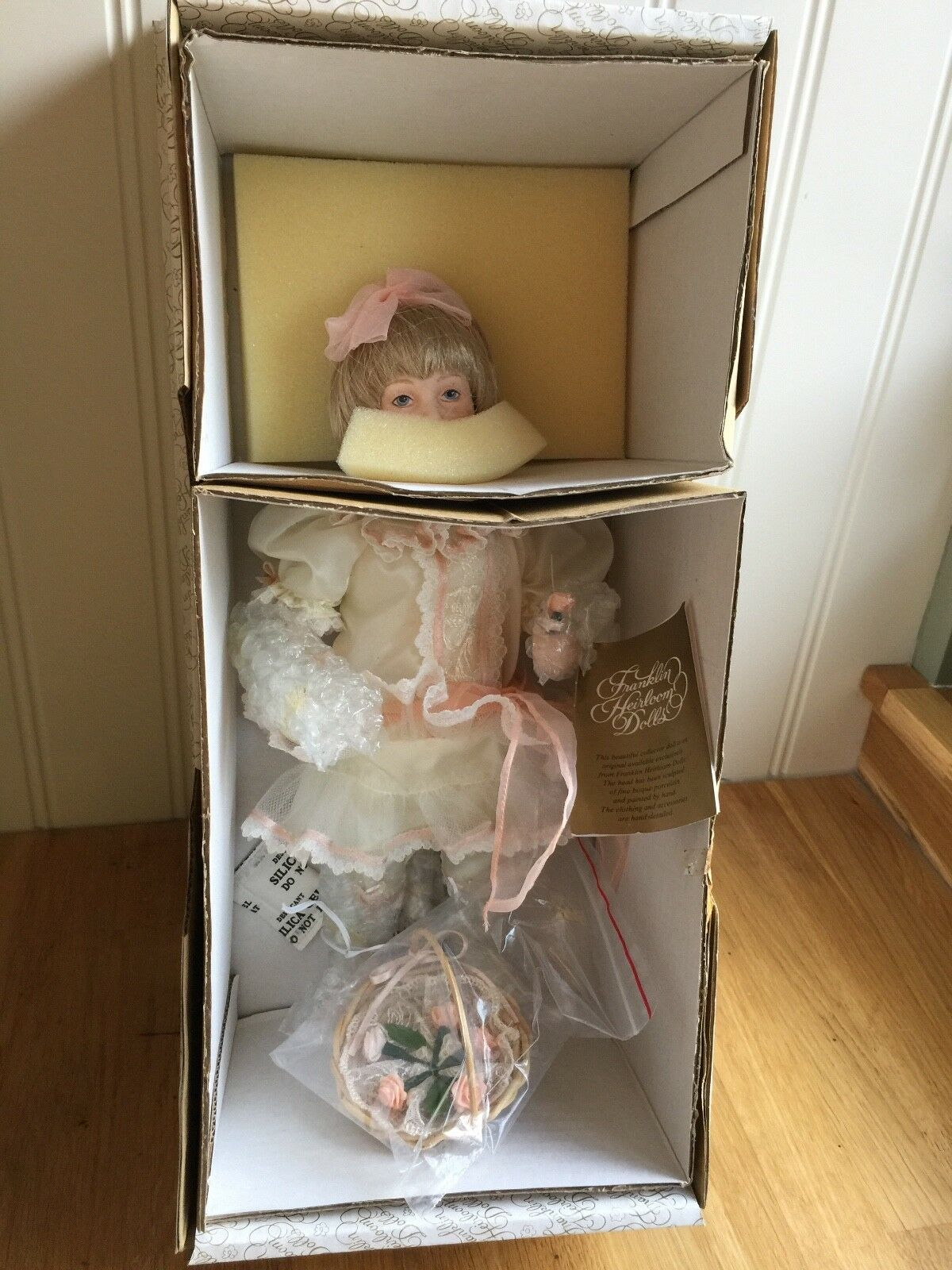 Beautiful Detail Franklin Heirloom Dolls - MOLLY The Little Flower Girl New
