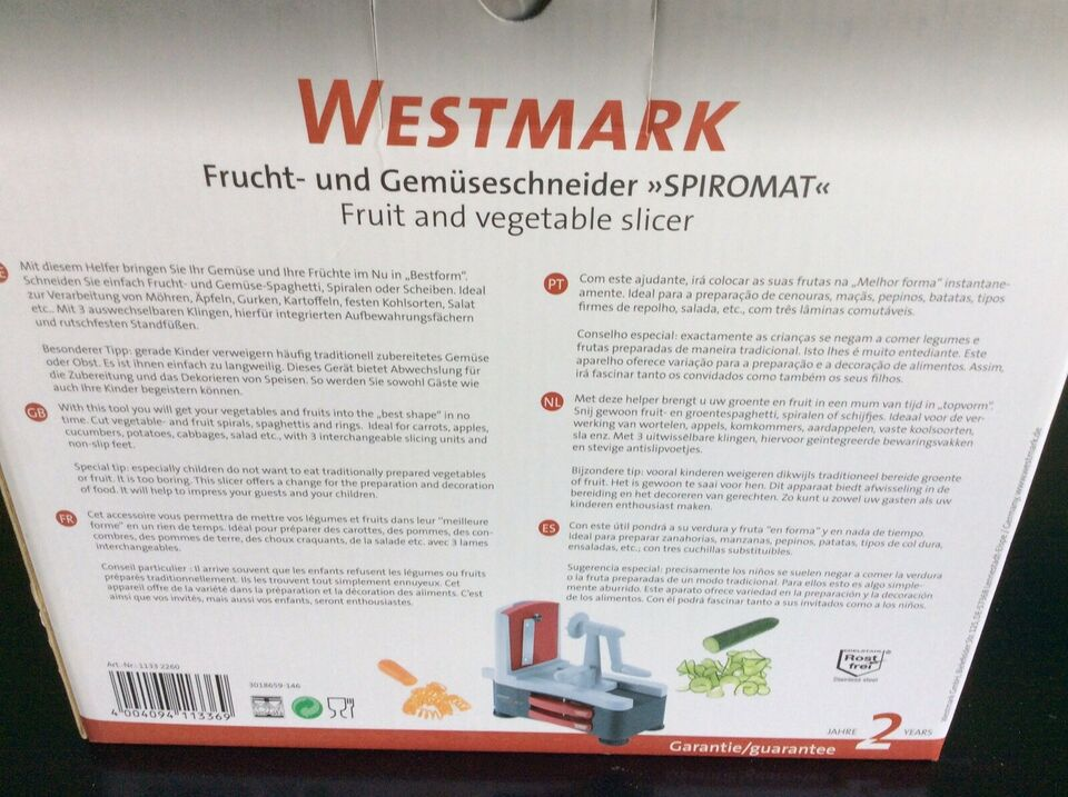 Frugt og grønt hakker, Westmark