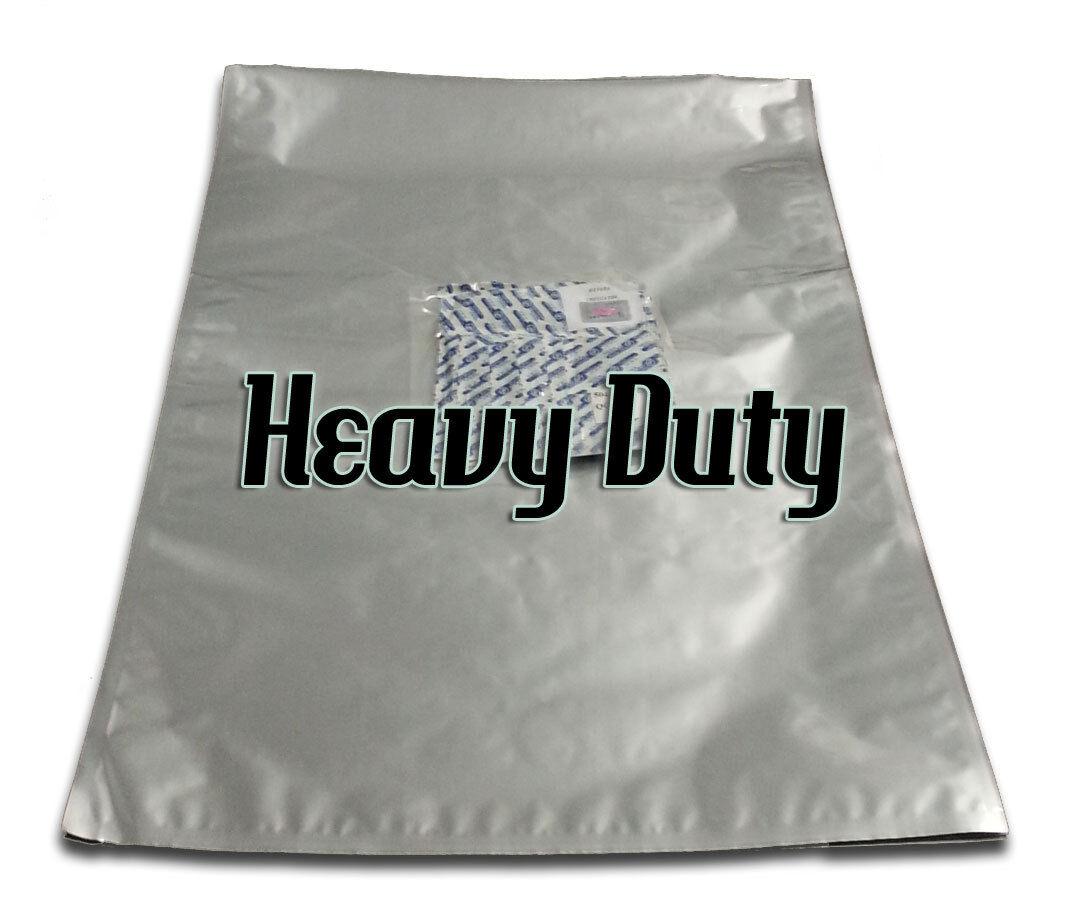 10 large 48 x 74cm 7mil HD Mylar bags & 10 2000cc OxyFree oxygen absorbers 2