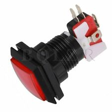5pcs Arcade Video Game 33mm Red Square Push Button Switch LED Illuminated