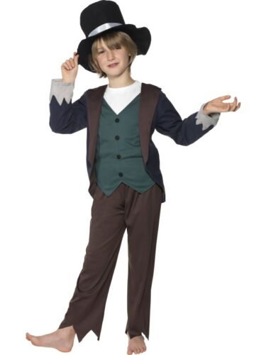 Victorian Kids Costumes & Shoes- Girls, Boys, Baby, Toddler    CHILD MENS VICTORIAN POOR BOY OLIVER TWIST COSTUME FANCY DRESS - 3 SIZES $11.99 AT vintagedancer.com