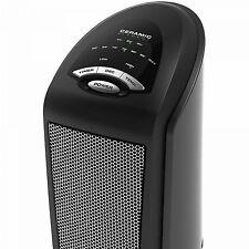 Ceramic Space Heater Lasko 1500W Energy Efficient Personal Tower Oscillating Fan