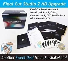 Apple Final Cut Studio 2 HD Upgrade MA888Z/A Final Cut Pro 6, Motion 3, Manuals
